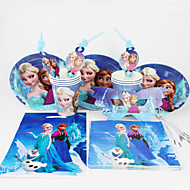 Frozen 92pcs Birthday Party Decorations Kids Evnent Party Supplies Party Decoration 12 People use