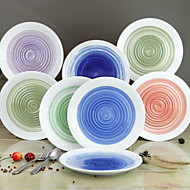Crop Circles Hand-Painted Ceramic Plate High-Temperature White Porcelain Tableware Suit
