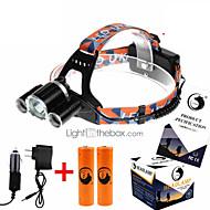 U`King® Čelovky / Světlometů popruhy LED 5000ML Lumenů 4.0 Režim Cree XM-L T6 18650 Dobíjecí / Kompaktní velikost / High PowerKempování a