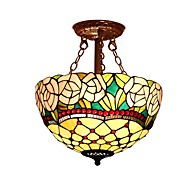 Rose Shade with 2 Lights For Tiffany Half pendant lamp
