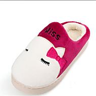 Feminino-Chinelos e flip-flops-Botas Cano Curto Botas Montaria Botas da Moda Conforto Coturno Botas de Neve-Rasteiro-Azul Marrom Rosa