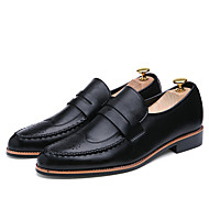Spring Autumn Men's Genuine Leather Breathable Non-slip Slip-on Flat Shoes for Party/Business/Working