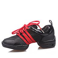Na míru-Dětské-Taneční boty-Taneční tenisky / Moderní-Koženka-Rovná podrážka-Černá / Červená / Zlatá
