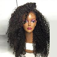 najwyższej jakości wysokiej jakości włosy syntetyczne naturalny kolor czarny perwersyjne kręcone peruki koronki przodu w magazynie