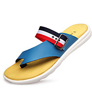 Men's Sneakers Summer Flats Leather Outdoor / Casual Flat Heel Others Black / Blue / White Others