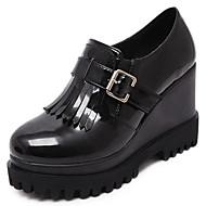 נשים-נעלי ספורט-דמוי עור-פלטפורמות / קריפרס-שחור-שטח-עקב וודג'