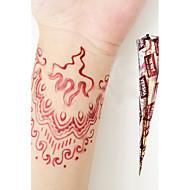Halloween Natural Herbal Henna Temporary Mehandi Tattoo Cones Body Art VERSHA(Red)