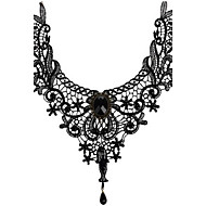 Women's Choker Necklaces Pendant Necklaces Gemstone Crystal Lace Gem Alloy Sexy Tassels Fashion Vintage Bohemian Punk Personalized Bridal