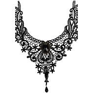 Damen Halsketten Anhängerketten Edelstein Krystall Spitze AleaciónSexy Quaste Modisch Vintage Böhmen-Art Punkstil individualisiert