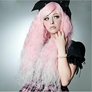 90センチメートルピンクの水の波コスプレファッションクラブの夜の女性の合成かつら400グラム長いアニメ衣装ウィッグ