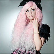 Kvinder Veldig lang Rosa Vannbølger Syntetisk hår Cosplay-parykk Halloween parykk Karneval Parykk