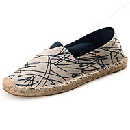 Unisex Loafers & Slip-Ons Spring/Summer/Fall/Winter Espadrilles Canvas Athletic/Casua Braided Strap Black /Red