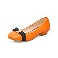 Women's Shoes Summer / Fall / Winter Comfort / Round Toe Heels Wedding / Dress Chunky Heel Bowknot / Split Joint