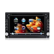 2 din lettore DVD dell'automobile GPS Navi dell'autoradio 6.2''universal in video stereo bluetooth cruscotto mappa gratuita SWC