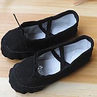 Kan ikke spesialtilpasses-Dame-Dansesko-Ballett-Lerret-Flat hæl-Svart / Rosa / Rød / Hvitt