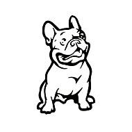 ziqiao моды французский бульдог собака стикер автомобиля любимчика автомобили этикетой атмосферостойких авто стиль мультфильма стикеры