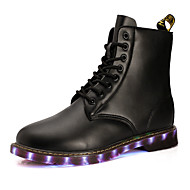 Men's Boots LED Spring / Summer / Fall / Winter Fashion Boots Leather Outdoor / Party & Evening