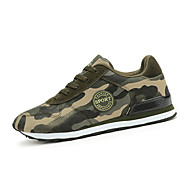 Women's Sneakers Spring / Fall Comfort Suede Athletic Flat Heel Lace-up Green Sneaker