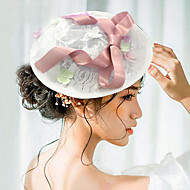 여성 사틴 레이스 투구-웨딩 특별한날 파시네이터 모자 1개