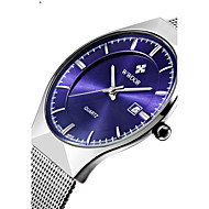 Men's Women's Couple's Unisex Dress Watch Fashion Watch Wrist watch Quartz Calendar Water Resistant / Water Proof Stainless Steel Band