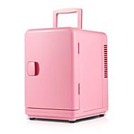 6l Mini-Kühlschrank Auto nach Hause Dual-Use-rosa