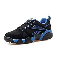 Sneakers-Ruskind-Komfort-Unisex-Blå Gul Rød-Fritid-Flad hæl