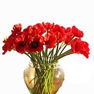 10 10 Ramo Couro Ecológico Outras Flor de Mesa Flores artificiais 32CM