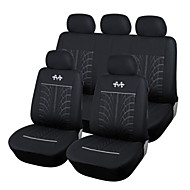 autoyouth nouveau style couverture de siège de voiture de polyester gaufré ajustement protecteur le plus universel de siège accessoires