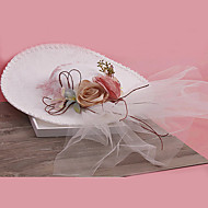 Women's Tulle / Fabric Headpiece-Wedding / Special Occasion Fascinators 1 Piece Clear Round 24cm