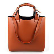 Women Bags All Seasons PU Shoulder Bag with for Casual Outdoor Office & Career Orange Brown Blushing Pink