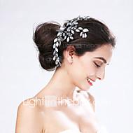 Women's Acrylic Headpiece-Wedding / Special Occasion Flowers 1 Piece