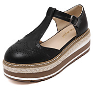 Women's Flat Platform Sandals Creeper Buckle Roma Summer Shoes Black and White Colors Available