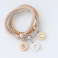 Bracciali Dell'involucro del braccialetto Lega Circolare Di tendenza Matrimonio Gioielli Regalo Oro / Rosa vivo / Argento,1 Set
