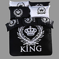Royal Series Bedlinen 100% Cotton Bedding Sets Twin Queen King Size Black and White Color