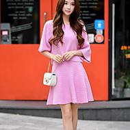 DABUWAWA Women's Solid Pink Knit Skirts,Vintage / Cute Above Knee