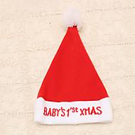 1pc rood geborduurd kindje kerstmis woorden kerstmuts nieuwe jaar cap feestartikelen