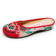 Stiletto heel shoes pointed sexy joker  embroidered shoes