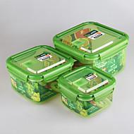 מיכל מזון מטבח מכלי אחסון עם מכסים מנעולים