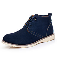 Men's Boots Spring / Summer / Fall / Winter Combat Boots Suede Athletic / Casual Flat Heel Blue / Brown Sneaker
