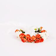 """Bouquets de Noiva Atado à Mão Rosas Buquê de Pulso Casamento Festa / noite Poliéster Chifon Espuma 3.94""""(Aprox.10cm)"""
