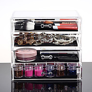 Acrylic Make Up Organizer 4 Drawers Storage Box Clear Plastic Cosmetic Storage Box Organizers