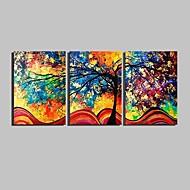 Botánico Impresión de la lona Tres Paneles Listo para colgar , Vertical