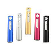 (Kolor losowo) 1szt USB Akumulator lżejsze oszczędny wysokiej jakości metalu wiatroodporny elektroniczny papieros zapalniczki