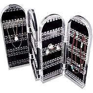 titular organizador de caixa de plástico caixa de jóias de exibição organizador chegada nova caixa de armazenamento de 2016 jóias em