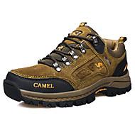 Sneakers-Ruskind-Komfort-Herre-Brun Grøn-Fritid-Flad hæl