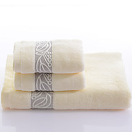 Yukang®three-piece Cotton Towels 1 Bath Towel 1 Wash Towel 1 hand Towel three-piece stripe series Yarn Dyed
