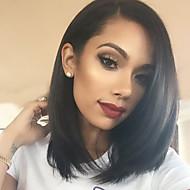 Unprocessed Peruvian Human Hair Wig 10-26inch Straight Natural Color Virgin Hair