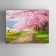 Kézzel festett Landscape / Fantasy / Virágos / Botanikus / Absztrakt tájkép Festmények,Modern / Klasszikus / Rusztikus / Európai stílus
