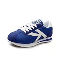 Sneakers-Ruskind Tyl Stof-Komfort-Dame-Blå Rød Grå Marineblå-Sport-Flad hæl