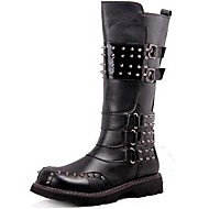 Men's Boots Spring/Fall/Winter Fashion Boots/Combat Boots Customized Materials Party & Evening/Casual Chunky  Black